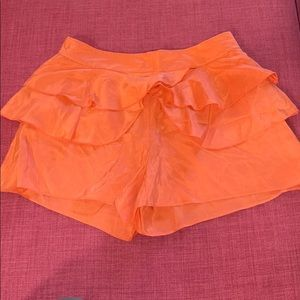 Seeler 100% Silk Coral Shorts with Petal Wings